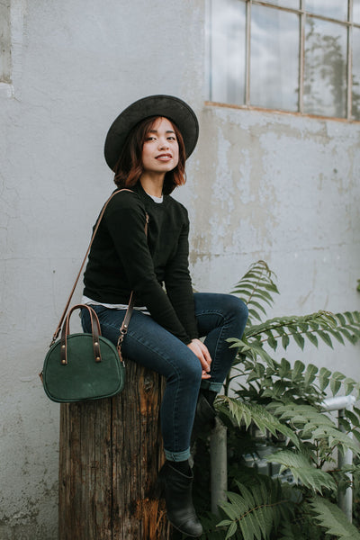 Green Half Circle Crossbody Bag | Thread & Canvas Co.