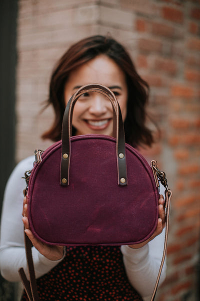 Purple Half Circle Crossbody Bag | Thread & Canvas Co.