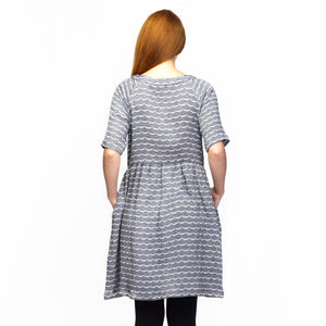 WAVE RAGLAN DRESS