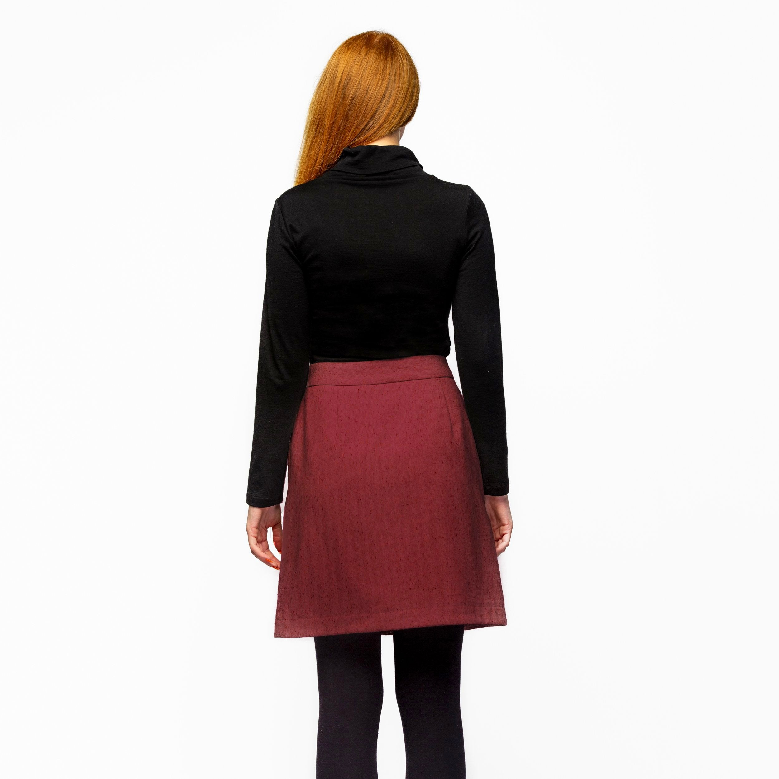 WRAP SKIRT MAROON