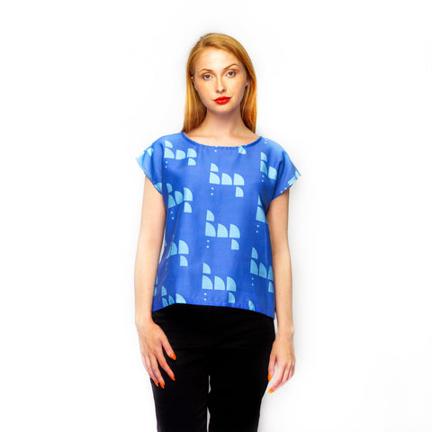Cornflower Blue Shell Top