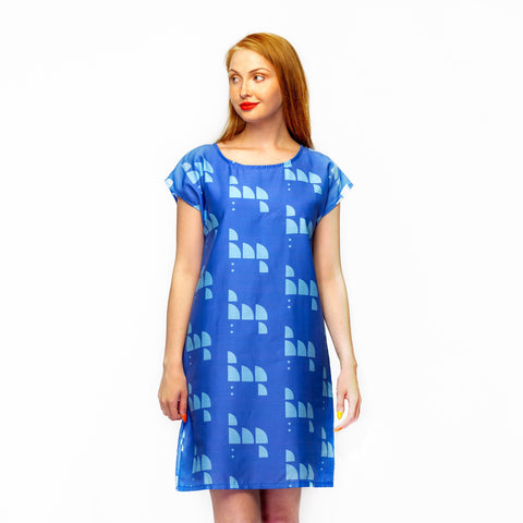 Cornflower Blue Shell Dress