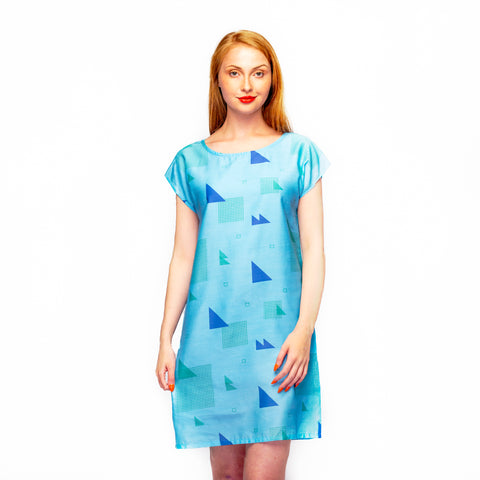 Sky Blue Shell Dress