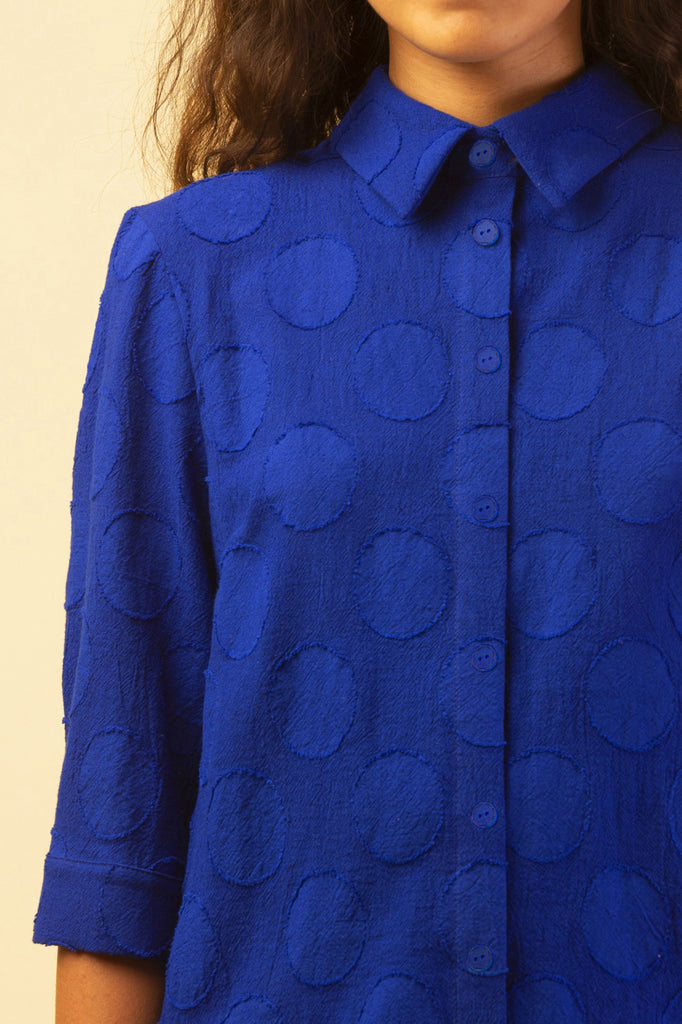 SPHERE OF INFLUENCE SHIRT ROYAL BLUE