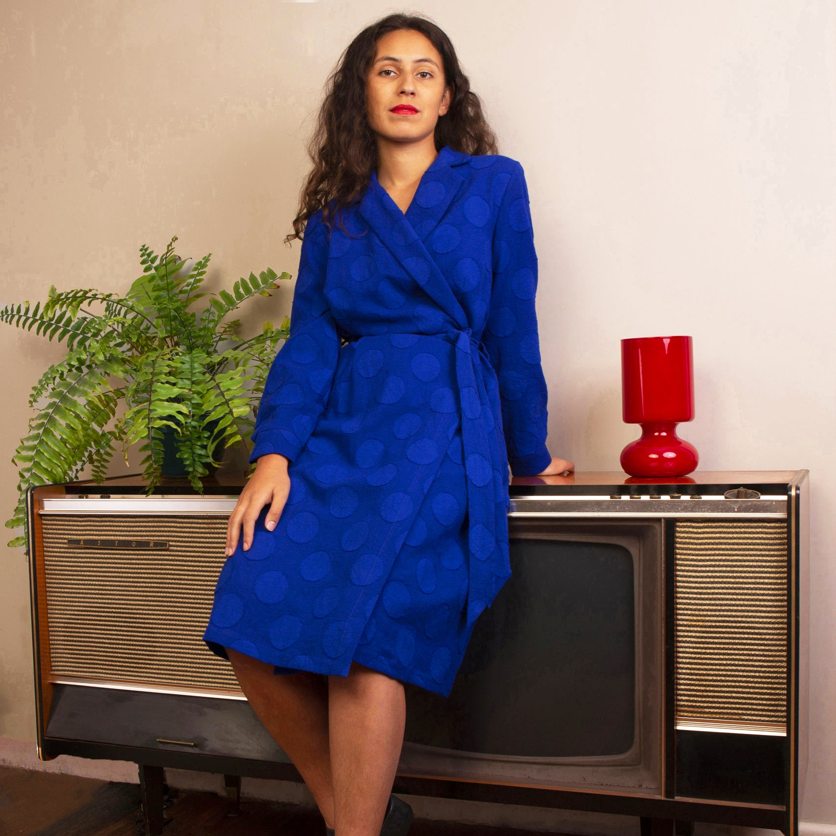 RECKONER WRAP DRESS ROYAL BLUE