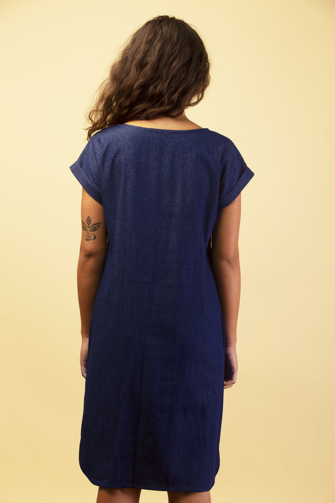 HEIST DRESS INDIGO DENIM