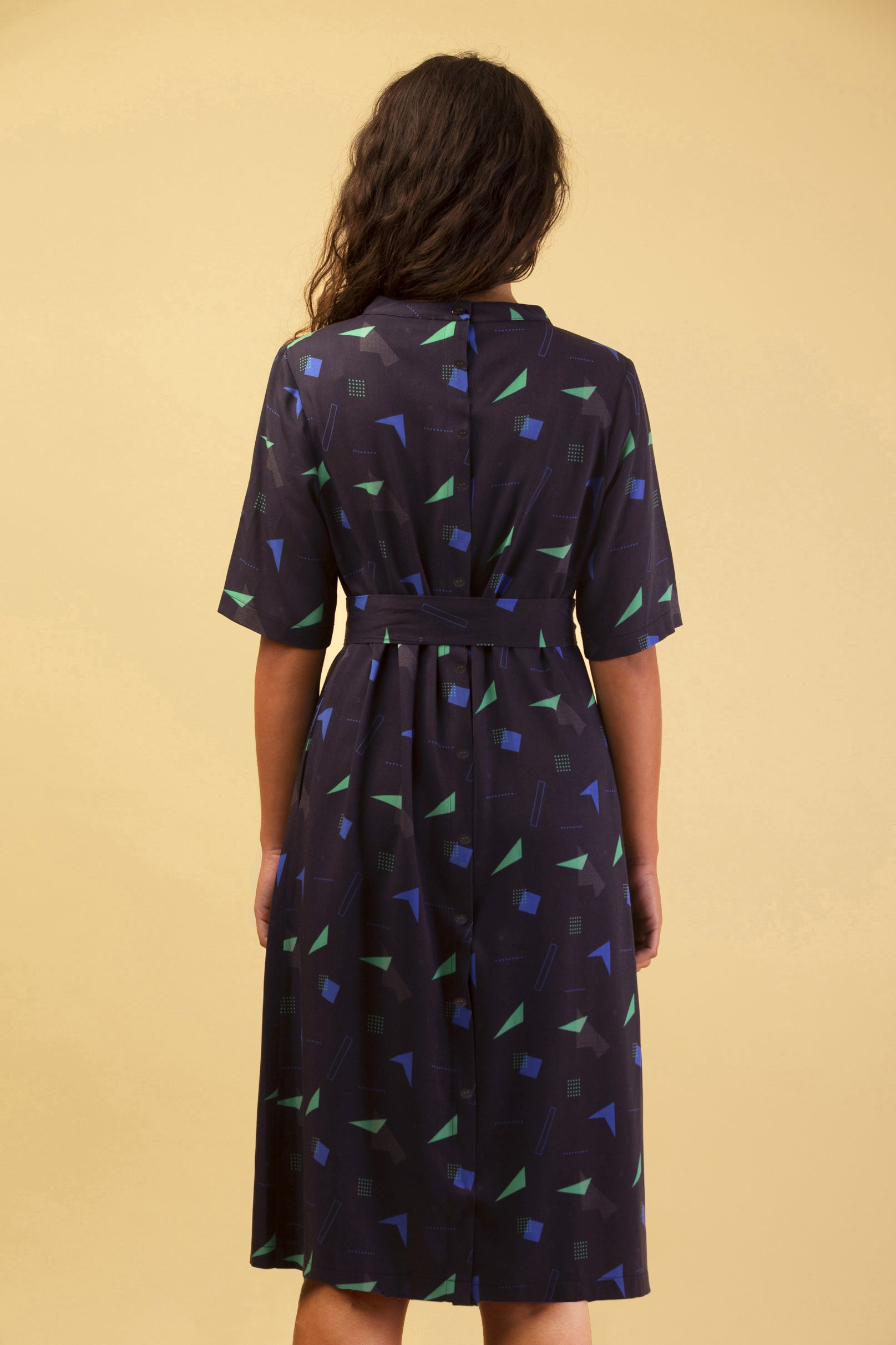 DUNE DRESS BLUE & GREEN