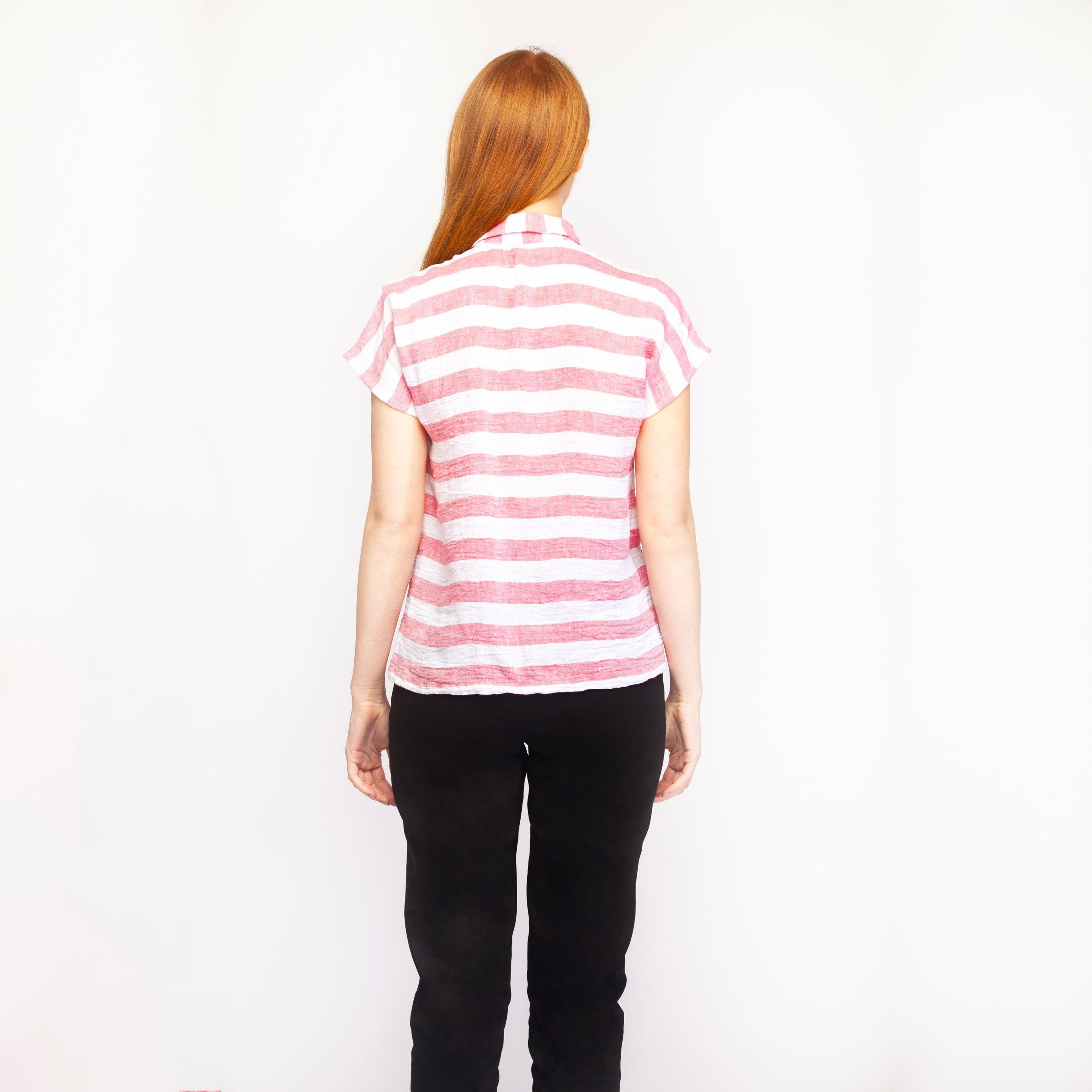 DUSTY PINK STRIPE SHIRT