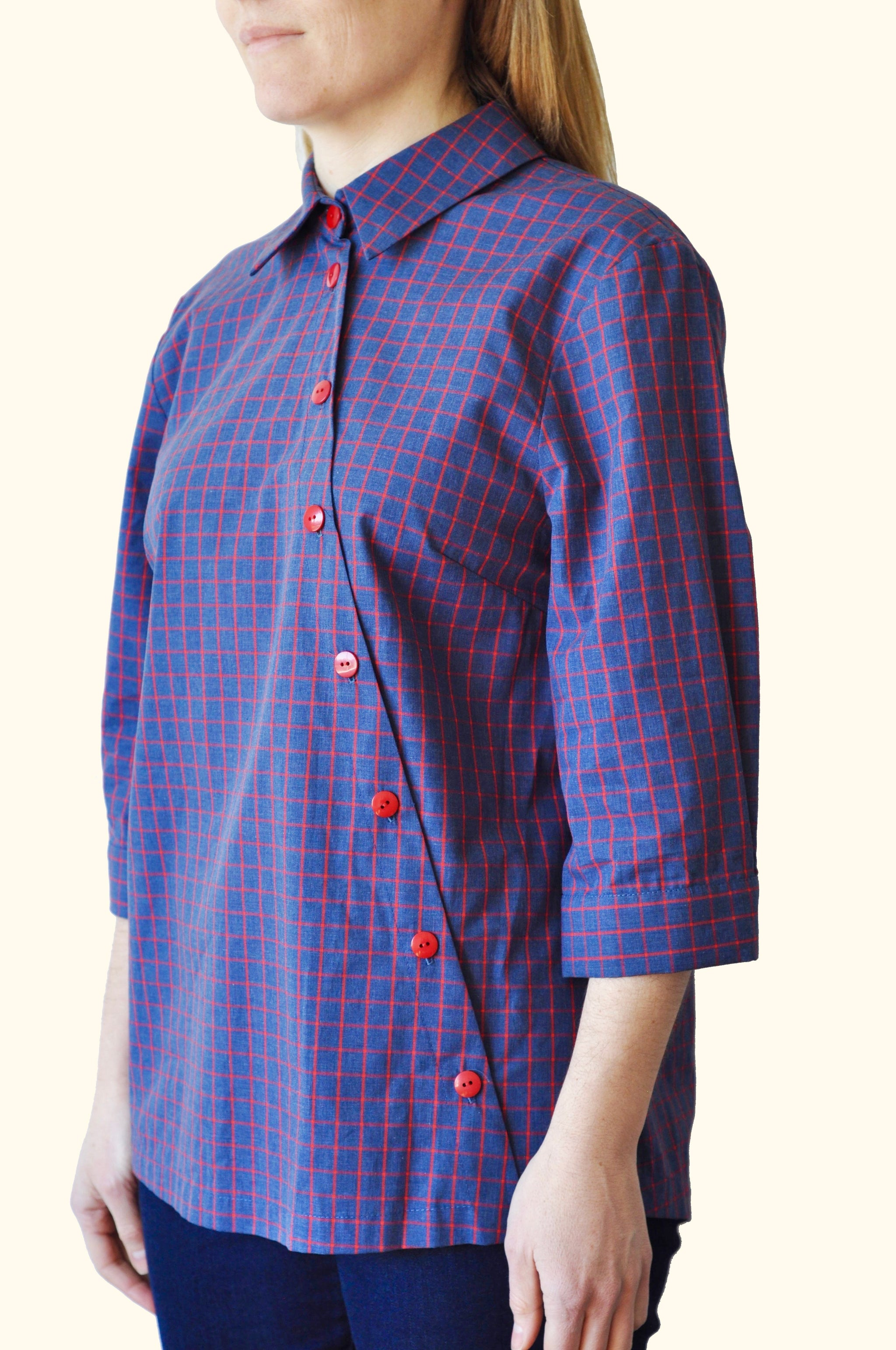 SATELLITE SHIRT CHARCOAL CHECK (ONE ONLY)