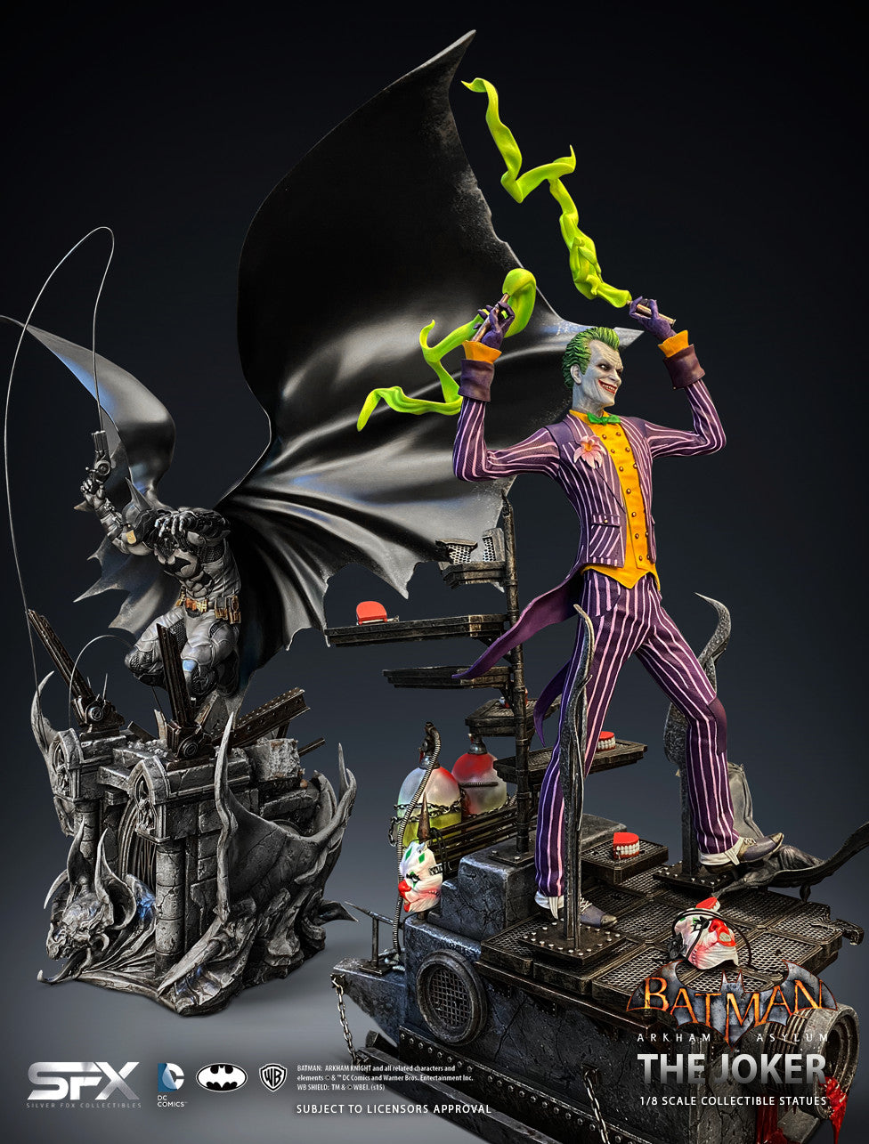 The Joker Arkham Asylum 1:8 Scale Statue Coming Soon