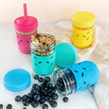Glass 8oz Mason Jar Drinking Tumblers + Food Storage
