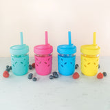 Regular Mouth Straw Lids with Spout + Straws with Stopper (8 Pack)