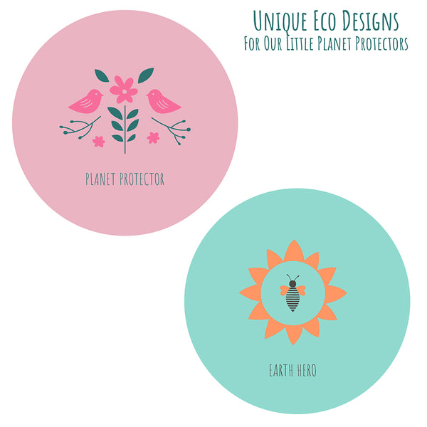 Silicone Baby Bibs | Unique Eco Designs | Easy to Clean | 2 Pack
