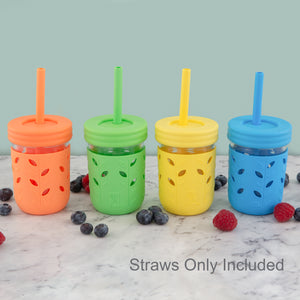 Silicone Straws with Stoppers (8 Pack)