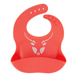 Silicone Baby Bibs | Unique Eco Designs | Easy to Clean | Red Elk
