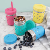 Stainless Steel 10oz Drinking Tumblers + Food Storage (Pink/Teal/Blue/Yellow)