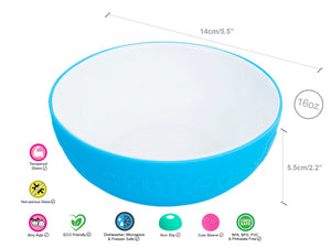 Kids Tempered Glass Bowls with Silicone Sleeve