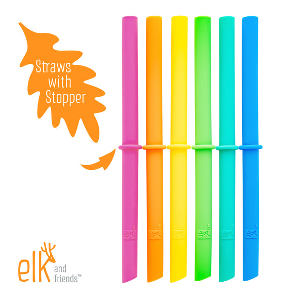 Regular Mouth Straw Lids + Straws with Stopper (8 Pack)