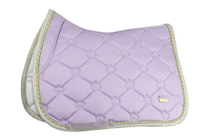 PSOS Jump Saddle Pad Soft Lilac Monogram