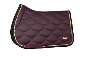 PSOS Jump Saddle Pad Monogram Wine