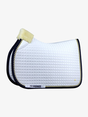 PSOS Jump Saddle Pad, White/Navy PRO