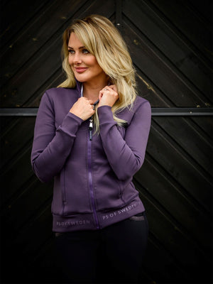 PSOS Faith Zip-Up Sweater, Plum