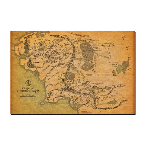 Travel Map of Middle Earth
