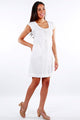Dress Bhakti White Linen