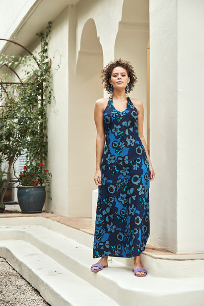 Dress Misha Maxi Provence Indigo