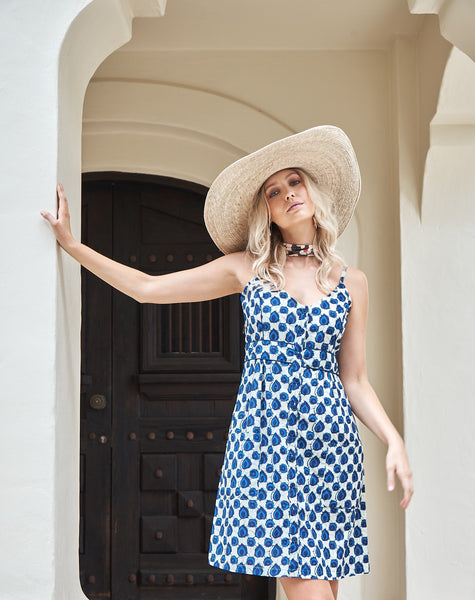 Dress Sanjita Blue Spot