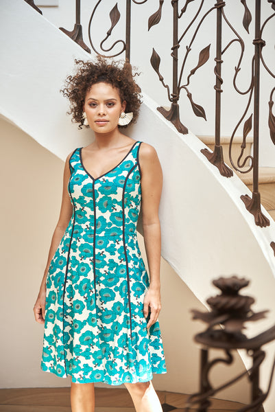 Dress Saloni Japanese Garden Jade
