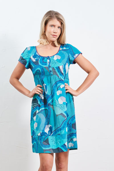 Dress Kala Tropika Jade