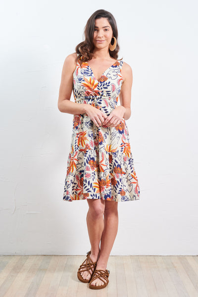 Dress Savita Coral Orchid