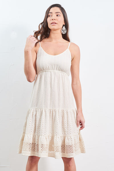 Dress Lace Natural Cotton