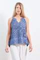 Top Saffron Blue Applique
