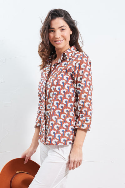 Top Amari Shirt Cotton Flower