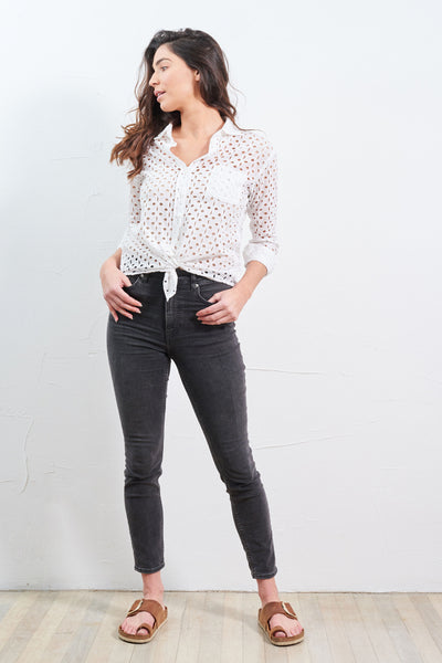 Top Lace Shirt White