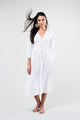 Dress Pearl Kaftan White Embroided