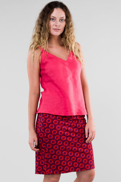 Skirt Pencil Red Locomotion