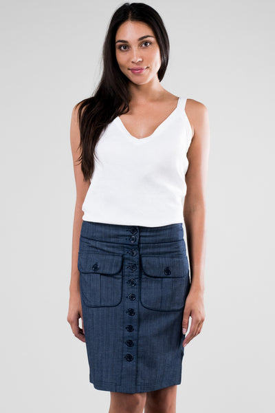 Skirt Bela Long Lightweight Denim