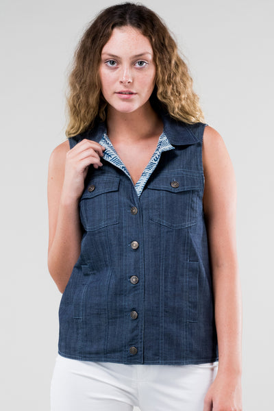 Vest Denim Reversible