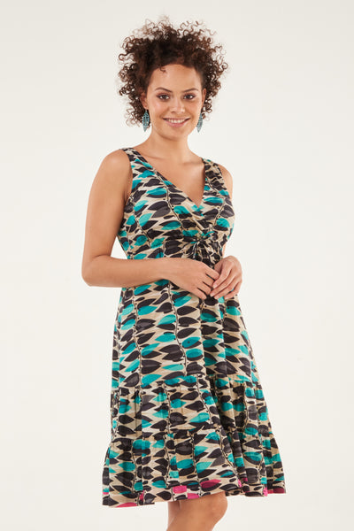 Dress Savita Turquoise Vine