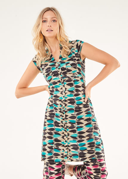 Dress Riva Turquoise Vine