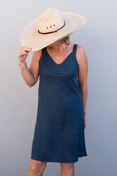 Dress Sunyata Indigo Blue Linen