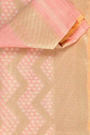 SIGNORAA PINK BANARASI MERCERISED COTTON SAREE-BSK07615 - Product View