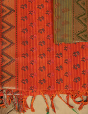 SIGNORAA ORANGE FANCY COTTON SAREE-FCT08457 - PRODUCT VIEW