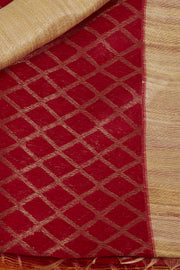 SIGNORAA RED BANARASI TUSSAR SILK SAREE-BSK07788 - Product View