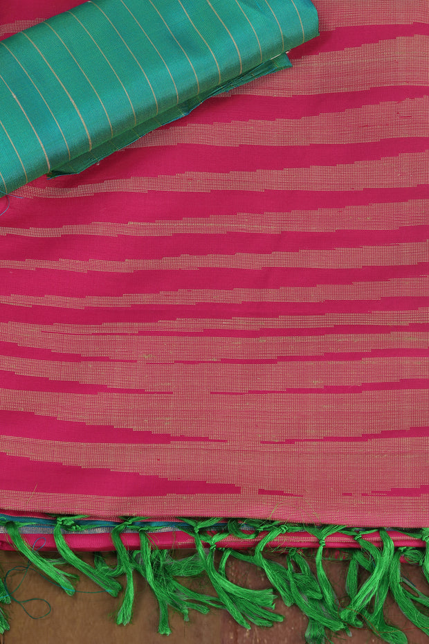 SIGNORAA RANI PINK KANCHIPURAM SOFT SILK SAREE-KSL02515 - Product View