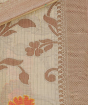 SIGNORAA BEIGE FANCY MERCERISED COTTON SAREE-FCT08835 - Product View
