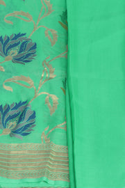 SIGNORAA SEA GREEN BANARASI GEORGETTE SILK SAREE-CHG03285 - PRODUCT VIEW